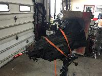 Replacing the transmission in a F-350